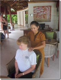 Anantara Dhigu welcome massage