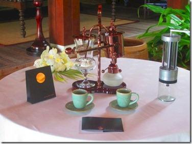 Anantara Kihavah Black Ivory coffee