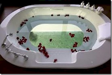 Anantara Kihavah glass bottom bath tub