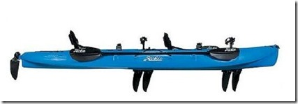 Baros tadem pedalling kayak 2