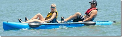 Baros tandem pedalling kayak