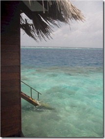 Club Rannalhi water villa near house reef