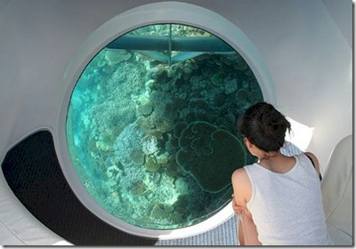 Conrad Maldives Rangali - glass bottom boat