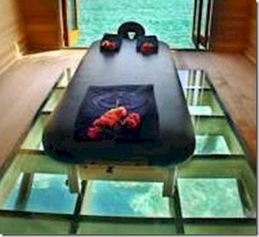 Conrad Rangali Maldives spa glass floor