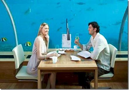 Conrad Rangali underwater champagne