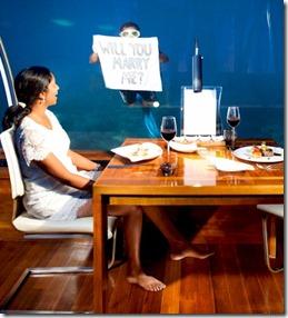 Conrad Rangali underwater wedding proposal