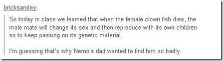Finding Nemo sex change