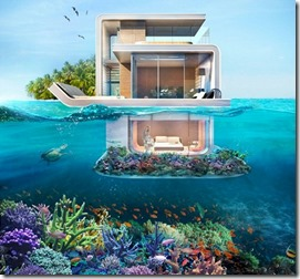 Floating water villas