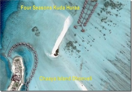 Four Seasons Kuda Hura - Chaaya Island Dhonveli water villa neighbours