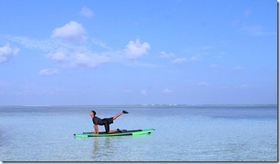 Four Seasons Kuda Huraa paddleboard yoga