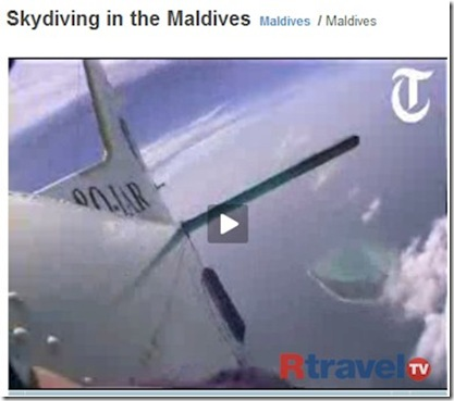 Gan Skydiving in Maldives