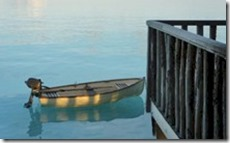Gili Lankanfushi water villa boat