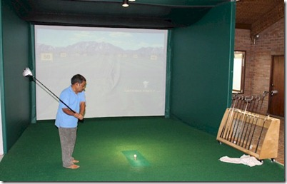 Holiday Island golf simulator