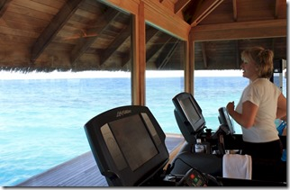 Huvafenfushi - over water gym