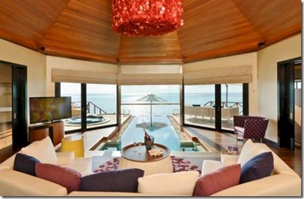 Huvafenfushi water villa indoor pool 1