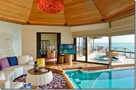 Huvafenfushi water villa indoor pool 2