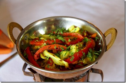 Kurumba - Jain vegetarian cabbage with capsicum