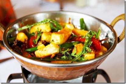 Kurumba - Jain vegetarian cottage cheese with green chili tomato