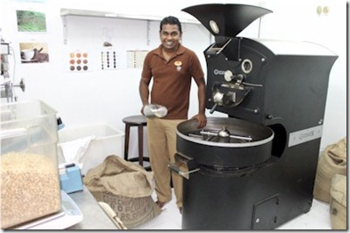 LUX Maldives coffee roasting