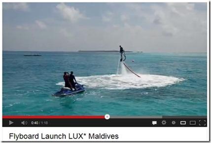 LUX Maldives flyboarding