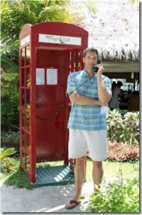 LUX Maldives phone booth