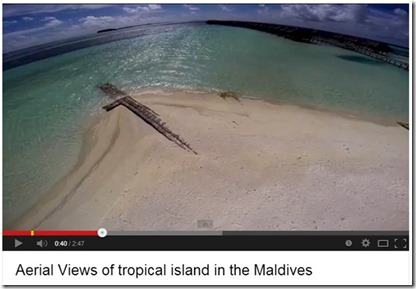 LUX Maldives video drone