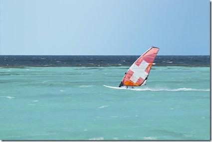 Maafushivaru windsurfing Swiss flag