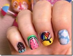 Maldives - nail art 1