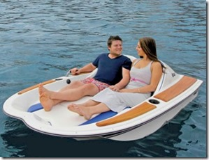 Maldives - not seen - electric motor boat