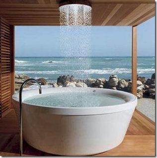 Maldives - not seen - rain show bath