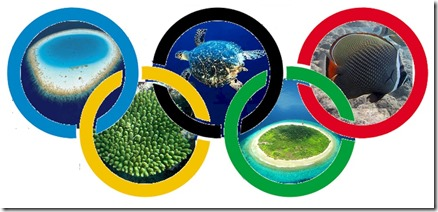 Maldives Olympics rings