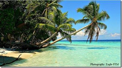 Maldives beach erosion