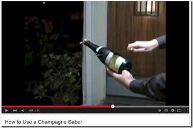 Maldives champagne saber