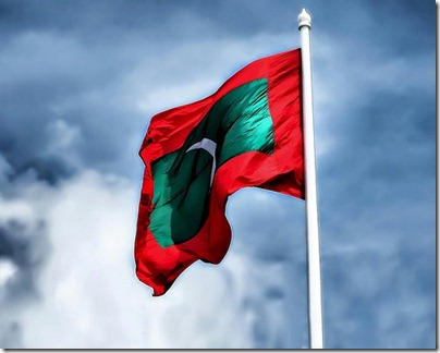 Maldives flag National Day