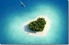Maldives heart shaped island