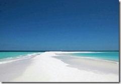 Maldives sand spit