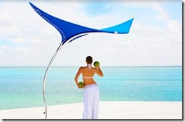 Maldives stingray umbrella