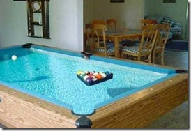 Maldives water pool table