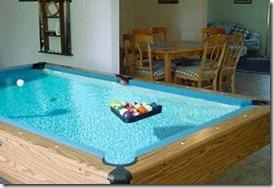 Maldives water pool table