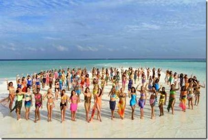 Miss World 2000 Maldives group