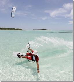 Olhuveli - kite surfing