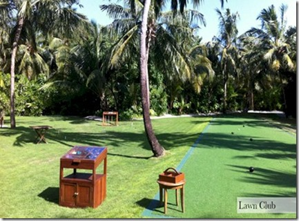 One and Only Reethi Rah Lawn Club lawn bowls