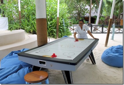 One and Only Reethi Rah air hockey