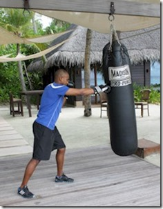 One and Only Reethi Rah beach boxercise