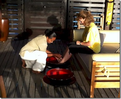 One and Only Reethi Rah foot washing 2