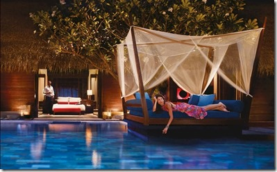 One and Only Reethi Rah pool bed