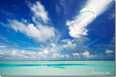 Sakis Dreaming of Maldives kite surfing