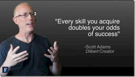 Scott Adams - aquiring skills