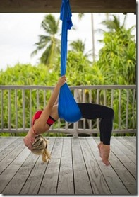 Six Senses Laamu - aerial yoga