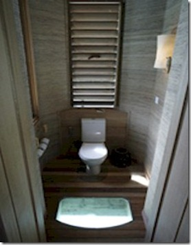 Six Senses Laamu toilet glass floor